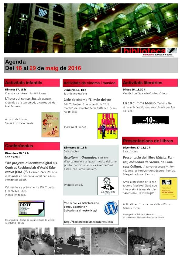 agenda 16 a 29 maig-1