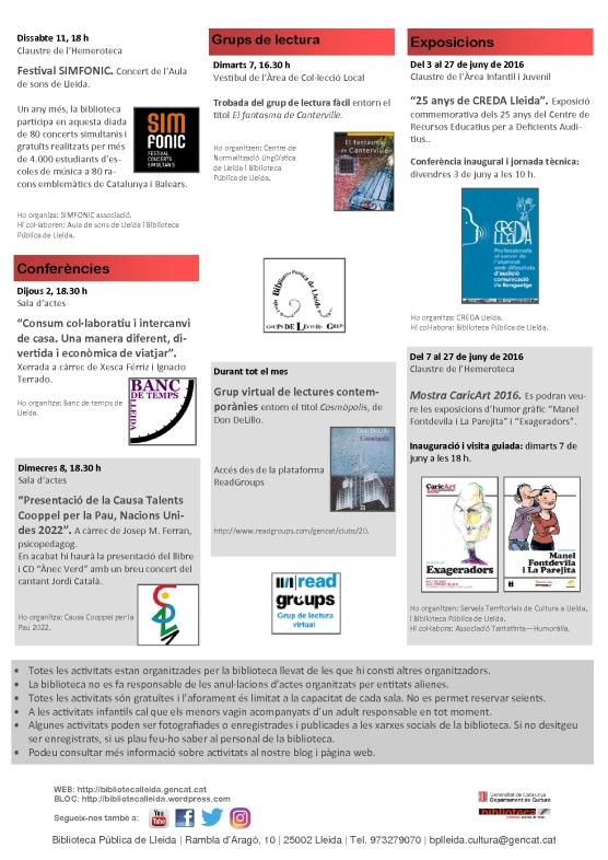agenda 30 maig a 12 juny-2