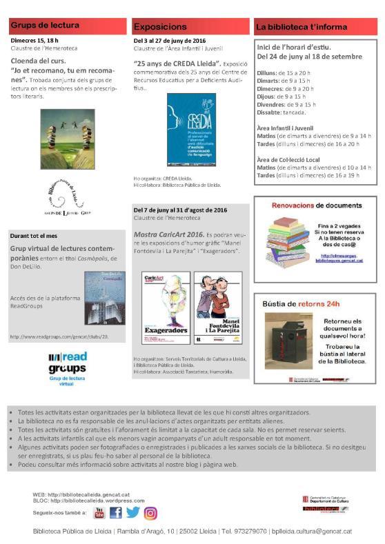 agenda 13 a 26 juny-2