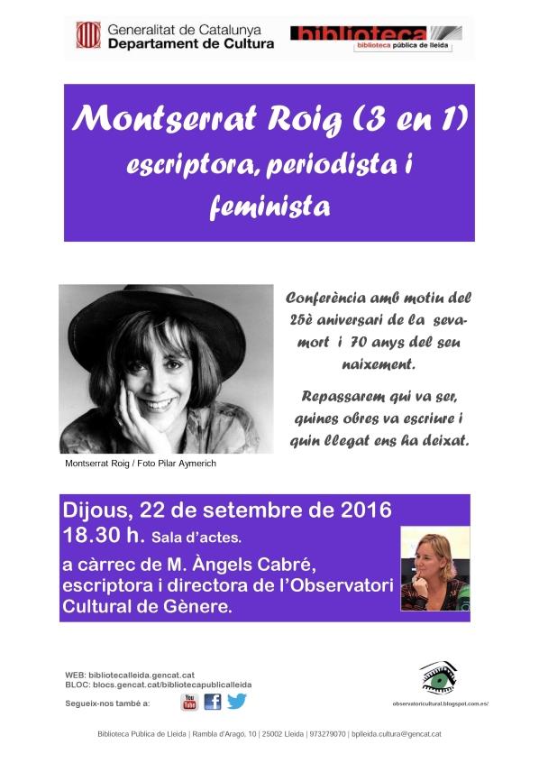 Cartell Montserrat Roig