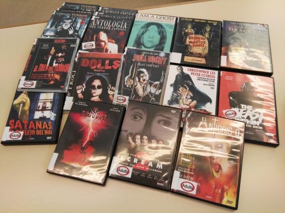 pel·lícules de terror de la Sala d'Audiovisuals